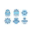 frozen food premium club labels collection vector image vector image