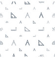 geometry icons pattern seamless white background vector image vector image