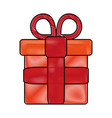 gift flat scribble vector image vector image