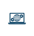 global settings network configuration icon vector image vector image