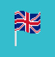 great britain pixel flag pixelated banner british vector image