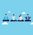 group yoga people relaxing and meditation in vector image vector image
