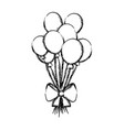 grunge funny balloons style with ribbon bow vector image vector image