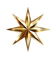 hand drawing gold star with eight rays elegant vector image