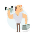 handyman service to call a repairman worker man vector image vector image