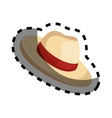 hat tourist accesory icon vector image