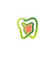 healthy mouth logo vector image vector image