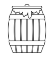 Honey keg icon outline style vector image vector image