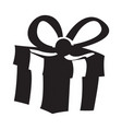 isolated gift silhouette vector image vector image