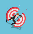 isometric businessman dashing through and vector image vector image