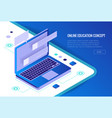 isometric training online learning webinar vector image