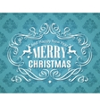 Merry Christmas vintage typographic label vector image vector image