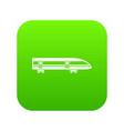modern high speed train icon digital green vector image