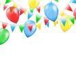 multicolored bright buntings garlands vector image vector image