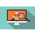 online doctor medical research vector image