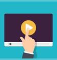online tutorials concept vector image