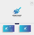 paint brush colorful logo template icon element vector image