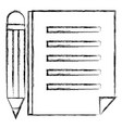 paper document with pencil vector image