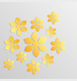 paper flower origami9 vector image vector image