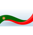 portugal national flag portuguese unusual design vector image vector image