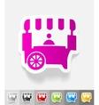 realistic design element shop on wheels vector image vector image