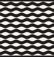 seamless black and white wavy lines pattern vector image vector image