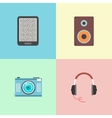 set of four portable devices vector image