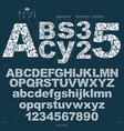 set of ornate letters and numbers vector image