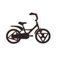 silhouette of bicycle for kids eco city vector image