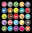 Slow life activity flat icons with long shadow vector image vector image
