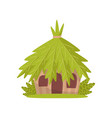 small hut in tropical jungle vector image vector image