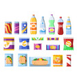 snacks and drinks merchandising products fast vector image vector image