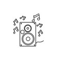 speaker music notes icon vector image