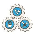 tecnical repair service emblem icon vector image vector image