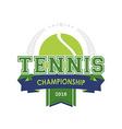 Tennis championship emblem vector image vector image