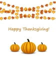 Thanksgiving celebration banner with maple leaf vector image vector image