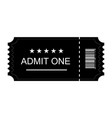 ticket icon ticket flat on blank background vector image vector image