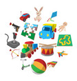 toys cartoon icons set vector image