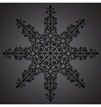 Vintage background ornament black star vector image