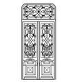 vintage wooden door vector image