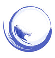 water circle with sea wave image vector image vector image
