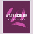 watercolor background with brush strokes stains vector image vector image