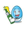with beer oxygen mask mascot cartoon vector image