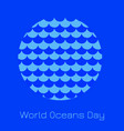 world oceans day waves in a circle which is the vector image vector image