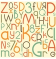 Typographic composition background vector image