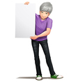 A gentleman holding an empty board vector image vector image