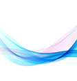 abstract blue wave background white vector image vector image