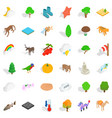 animal icons set isometric style vector image vector image
