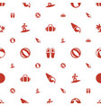 beach icons pattern seamless white background vector image vector image