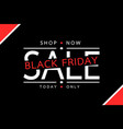 black friday sale tag banner - big shopping vector image vector image